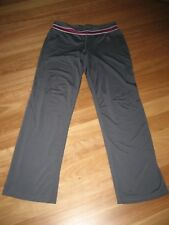 LADIES GREY POLYESTER SPORTS/ TRACK/ CASUAL PANTS SPORTS - SIZE 14 - GREAT GYM