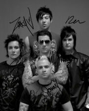 * AVENGED SEVENFOLD FULL BAND SIGNED POSTER PHOTO 8X10 RP AUTOGRAPH THE REV