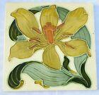 A stunning & Rare Art Nouveau majolica Tile, Lewis F Day. C1895
