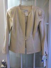 """Karen Miller New York Shiny Gold A Button Up Long Sleeve Jacket Women 10 """"NWT"""""""