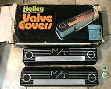 Vintage Holley Mickey Thompson Valve Covers Chevrolet In Original Box 241-29