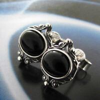 Onyx Silber 925 Ohrringe Damen Schmuck Sterlingsilber S175