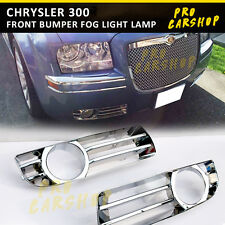 CHROME TRIM CHRYSLER 300 Front Bumper Fog Light Lamp Cover 2005-2010