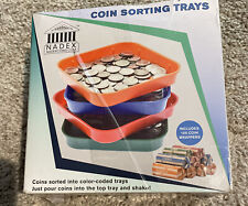 Nader Color Coded Coin Counting Sorting Trays With Wrappers New