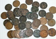 40 Coin Lot 1901-1910 Great Britain Bronze One Cent Coins Edward Vii 1c Uk Penny
