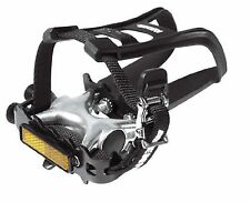 Raleigh Pedals Toe Clip and Strap Combination - Black 9/16 Inch