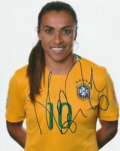 MARTA SIGNED BRAZIL 8X10 PHOTO W/PROOF # 1