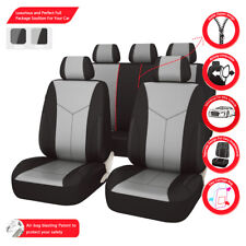 Universal Car Seat Covers Faux Leather Airbag Compabile Bird-mesh For Car TRUCK