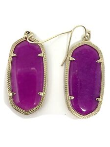 EUC KENDRA SCOTT EARRINGS Elle Gold Tone in Purple Mica