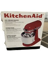 New ListingKitchenAid Kica Ice Cream frz yogurt sorbet Maker Stand Mixer Attachment Kica0Wh