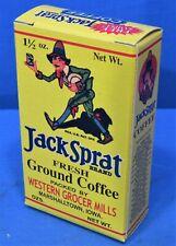 Jack Sprat Coffee Box ~ Free Sample Size & Store Display Sign