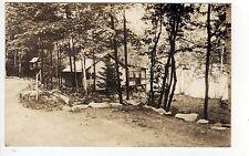 CABIN ON LAKE RPPC Real Photo Postcard POND Pike CARLISLE PENNSYLVANIA PA
