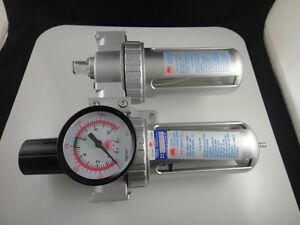 """New Pneumatic air filter regulator lubricator SFC-400 1/2"""" BSPT"""