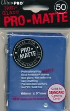 10x PACKS Magic Pokemon Standard Ultra Pro BLUE PRO-MATTE Card Sleeves 50ct NEW!