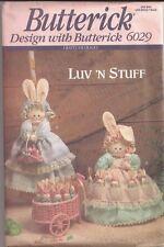 Butterick Luv 'N Stuff BUNNY HIDE-AWAY Pattern...#6029...UNCUT...OOP