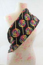 LuLaroeOS Leggings Black W/ Rainbow Colored Lollipops NWOT