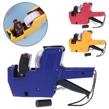MX-5500 8 Digits Price Tag Gun Labeler Labeller Stickers Label Paper +2 Ink Roll