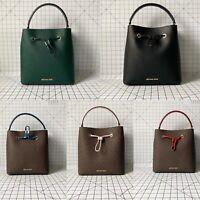 Michael Kors Suri Large Leather/PVC Bucket Bag Drawstring Crossbody Handbag