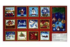 Un joyeux Noël quilting tissu doux livre Cotton Quilting Sewing Panel