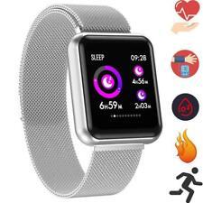 Smartwatch P68 OLED Bluetooth Fitness Pulsuhr Magnetverschluss IP68 iOS Samsung