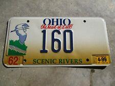 Ohio 1999 Scenic Rivers license plate #    160