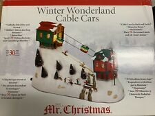 MR CHRISTMAS ANIMATED CABLE CARS W/ MUSIC FITS LEMAX DEPT 56 DEPARTMENT 56