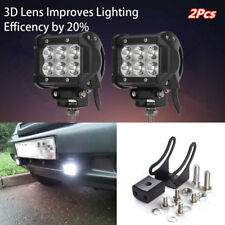 2x White 6 LED Work Light Bars Stop Flood Work Driving Lamp Truck DRL Spotlight