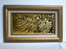 """American Encaustic Tiling Co. Framed Antique Glazed 6"""" x 12"""" TwoFloral Tiles"""