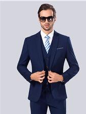 New Men's Royalblue Business Casual Suit Slim Wedding Suits There Piece Suit