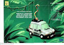 PUBLICITE ADVERTISING 116  2000  Renault  (2p)  Kangoo Pack Aventure Disneyland