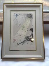 "Salvador Dali: ""The Virgin"" E/A pencil signed, hand-colored etching COA"