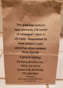 "#1 US COIN GRAB BAG ON eBay!  APPROX $50 ""RED BOOK"" CATALOG VALUE 4 JUST $24.99!"