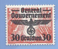 Germany Nazi Third Reich 1940 Occupation Poland Swastika Eagle 30 Stamp WW2 #2