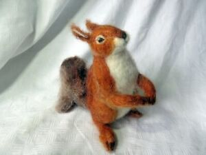 A VINTAGE RED SQUIRREL SOFT TOY