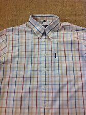 men's BEN SHERMAN (3) Large, Check, Short Sleeve Shirt. Superb