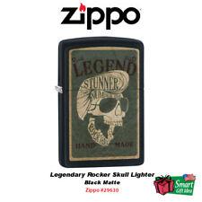 Zippo Legendary Rocker Skull Lighter, Black Matte #29630