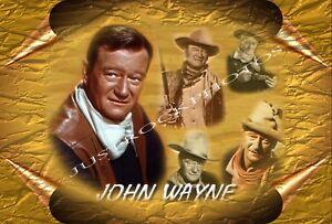 JOHN WAYNE METAL  TIN SIGN A4 30X20cm