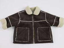 KOALA BABY BABIES R US BOYS BROWN FAUX SUEDE WHITE FUR LINING JACKET 0-3 MO NEW