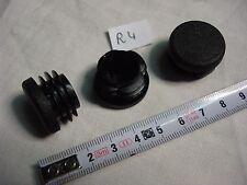 16 embouts ronds à insérer noir pour tube diamètre 25 mm  (réf R4)
