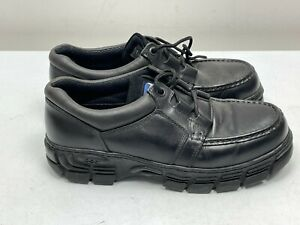 POD LEATHER SHOES UK SIZE 10 BLACK CHUNKY SOLES, SCHOOL, WORK OFFICE ETC