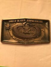 Olympic Games XXIVTH Olympiad Seoul 1988 Brass Wall Plaque