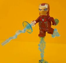 LEGO ® Rare Iron Man Mark 50 Armor  (Trans-Clear Head)  w/ stand 76125