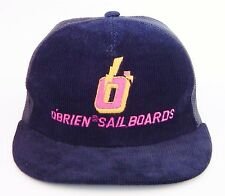 Vintage O'BRIEN SAILBOARDS Corduroy Meshback Trucker Hat / Made in Korea Cap...