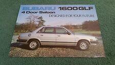 1983 / 1984 SUBARU 2WD 1600 GLF SALOON - UK LEAFLET BROCHURE H.D Hand Rotherham
