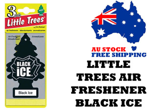 Little Trees Air Freshener Black Ice x 3 (3 Pack) - Car Truck Taxi Home Office