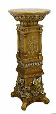 Islamic Muslim Vintage Wood and Resin Column Pedestal Post Plant Statue Stand