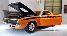 1970 Plymouth Barracuda Cuda Hardtop V8 ARANCIONE pressofusione SCALA 1:24 MODELLO 71873 o