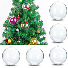 20/50Pcs Clear Balls Fillable Baubles DIY Sphere Craft For Christmas Tree Orname
