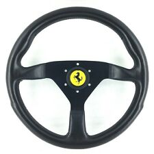 Genuine Ferrari Momo leather steering wheel, 350mm. 208 308 348 Dino etc      7C