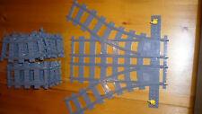 LEGO 7895 CITY TECNICA ferrovie morbido rotaie RC Switch kg RAILS switch top